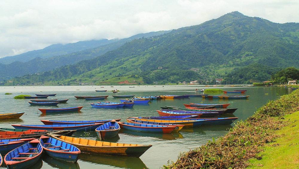 Picturesque Phewa Lake in Pokara. Image:     Simona Ri