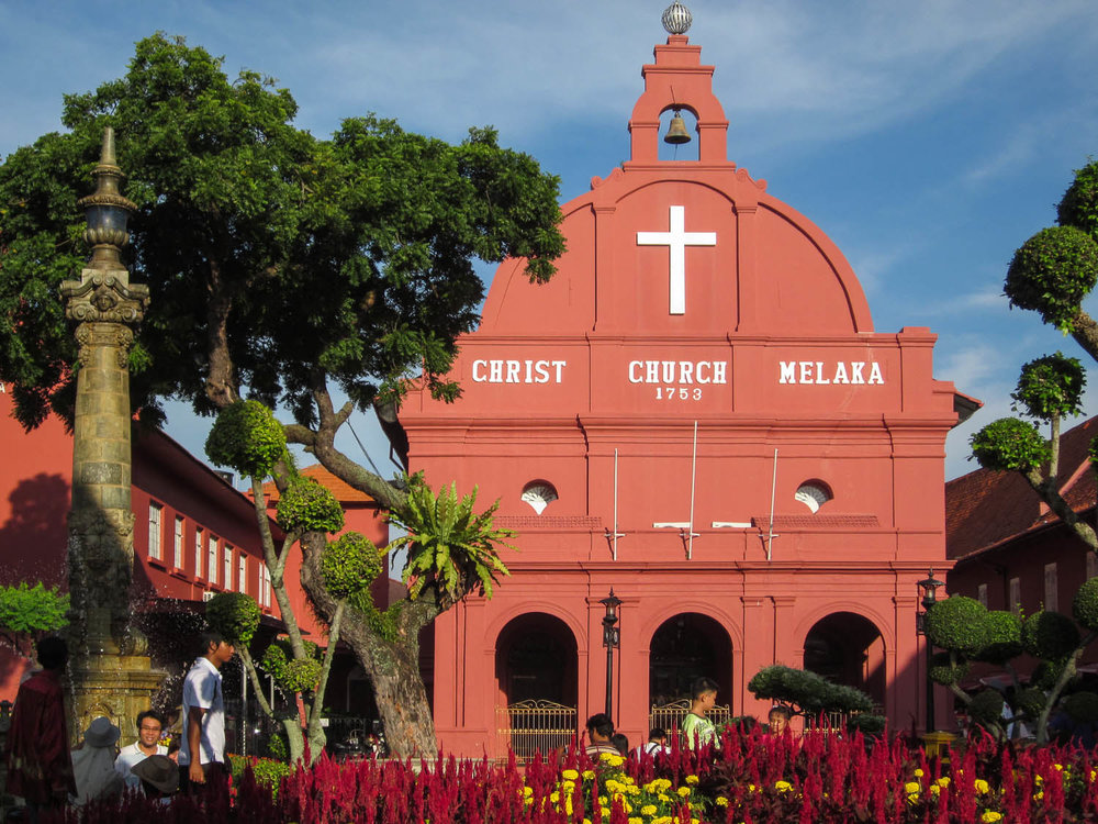 The iconic Christ Church in central Malacca. Image:  ©    Ken Marshall