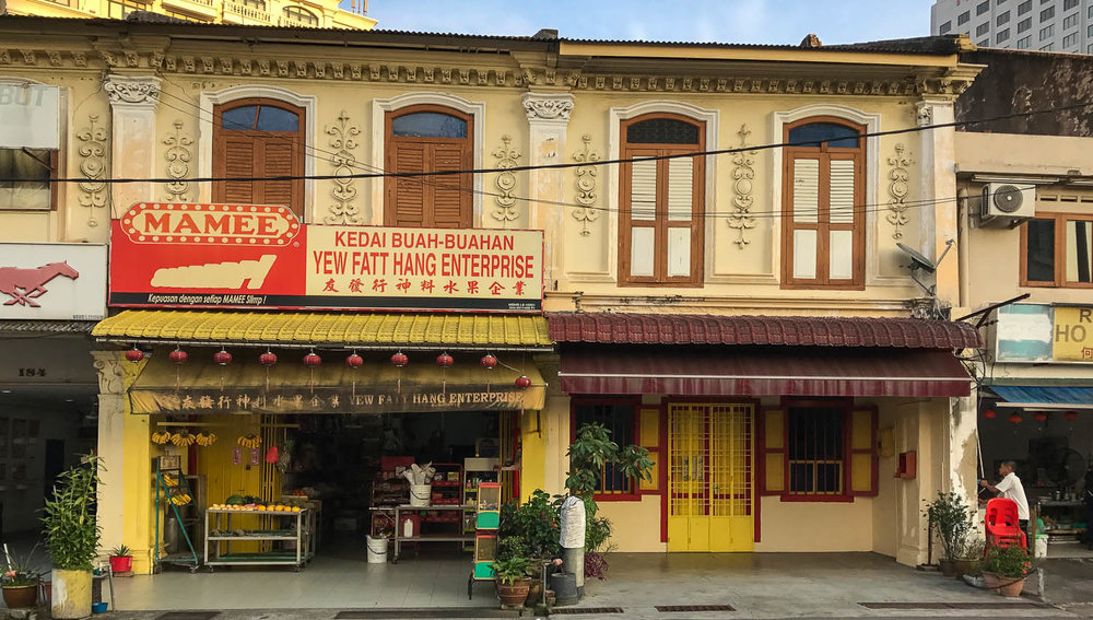 Old Chinese-style shophouses in Malacca. Image:  © Alan Williams