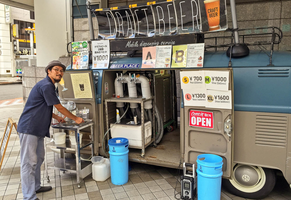 A craft beer mobile dispensing van in Tokyo. Image:  © Alan Williams