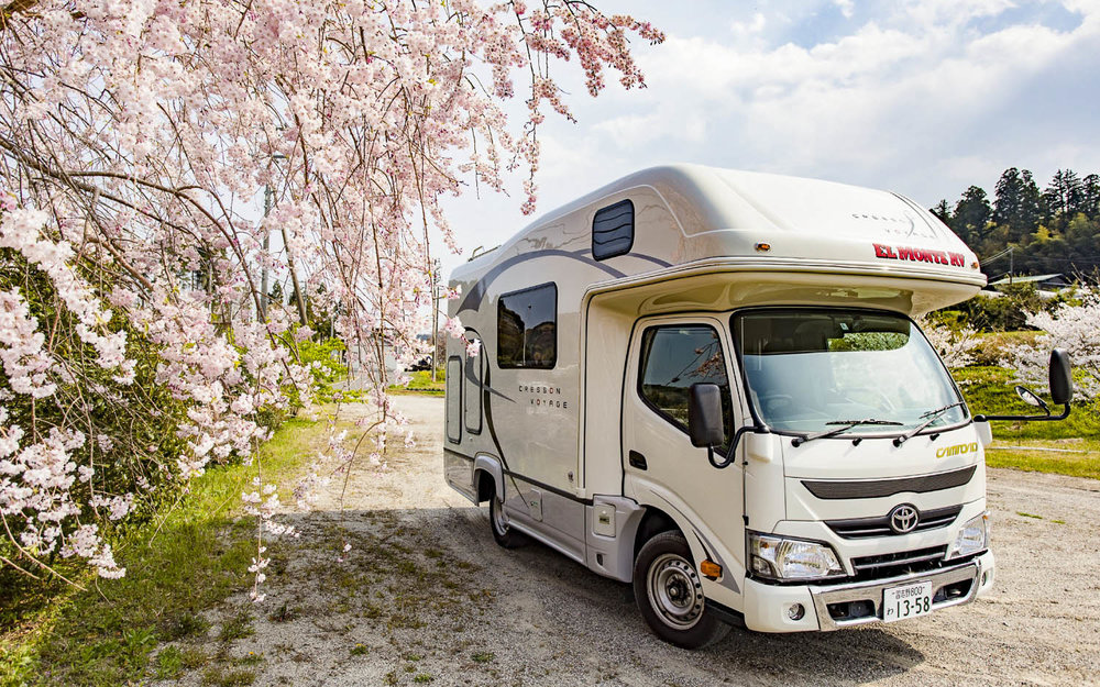 A typical mid-size Japanese campervan