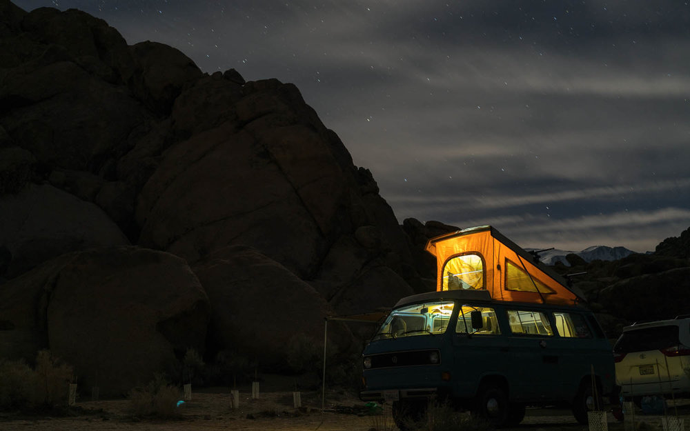 Consider safety issues if free camping at night. Image:     Tommy Lisbin
