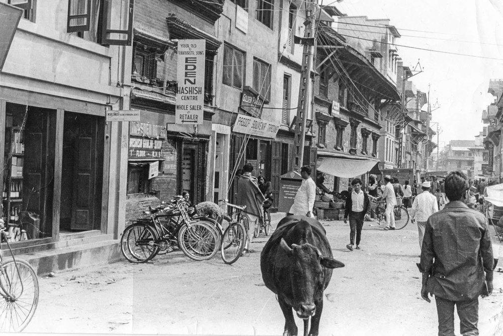 One of the last hashish shops in Kathmandu. Image:  © Alan Williams