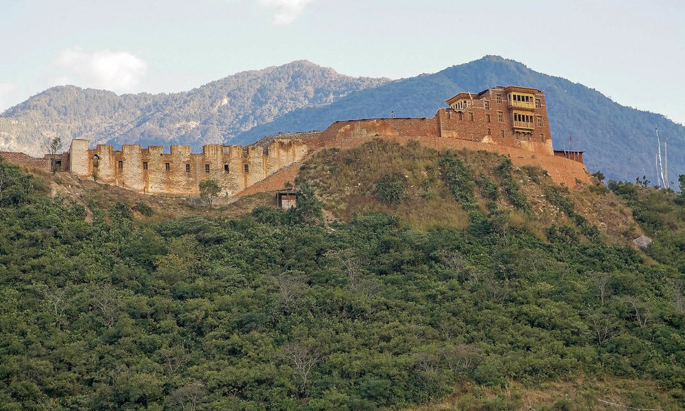 The Wangdue Phodrang Dzong, three years after the fire.
