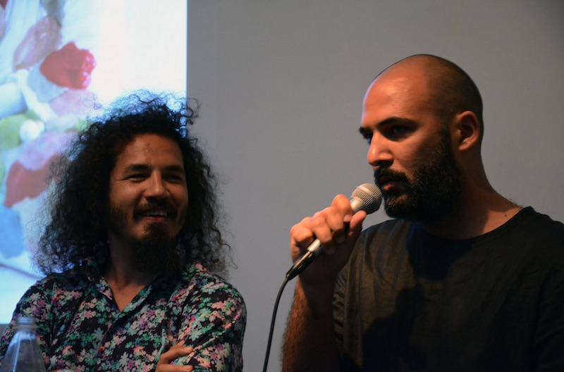 Reynier Leyva Novo, left, and Yornel Martínez during their artist talk at RU. Courtesy Residency Unlimited