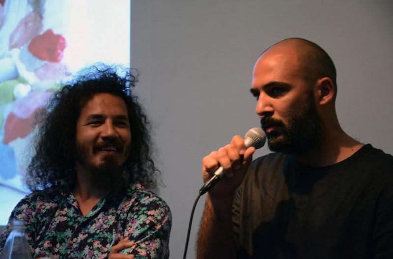 Reynier Leyva Novo, left, and Yornel Martínez during their artist talk at RU. Courtesy Residency Unlimited