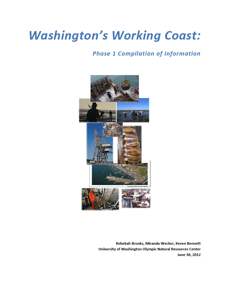 Washington's Working Coast: Phase 1 Compilation of Information