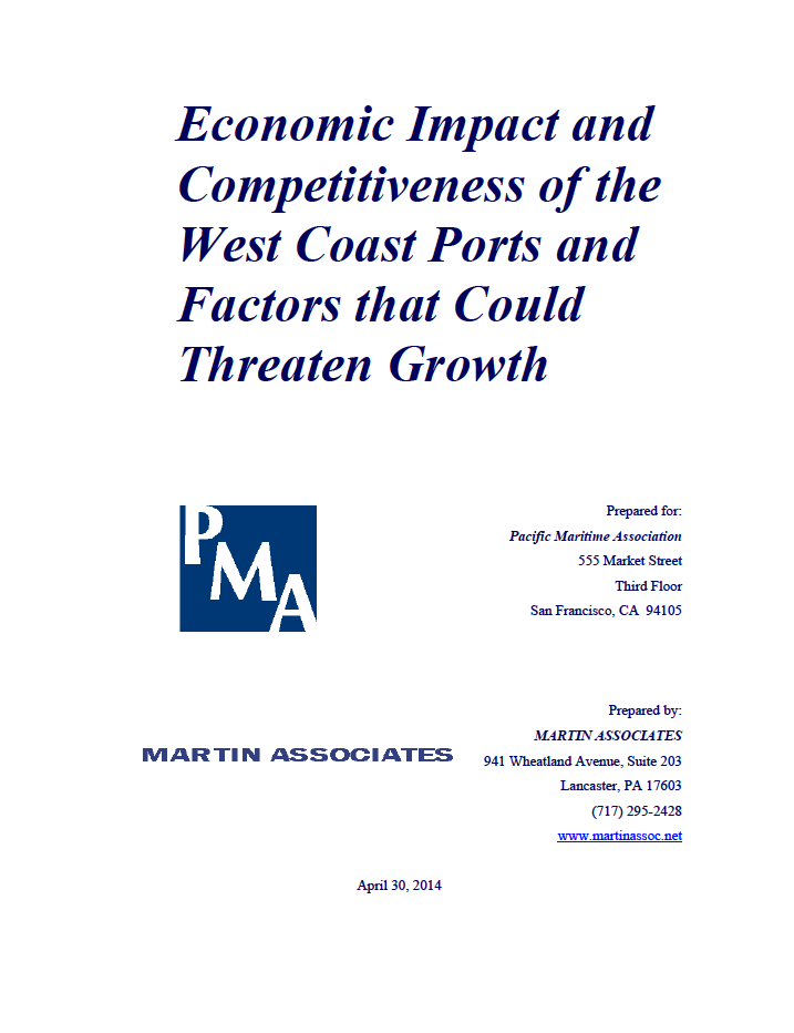 Economic Impact and Competitiveness of the West Coast  Ports and Factors that Could Threaten Growth