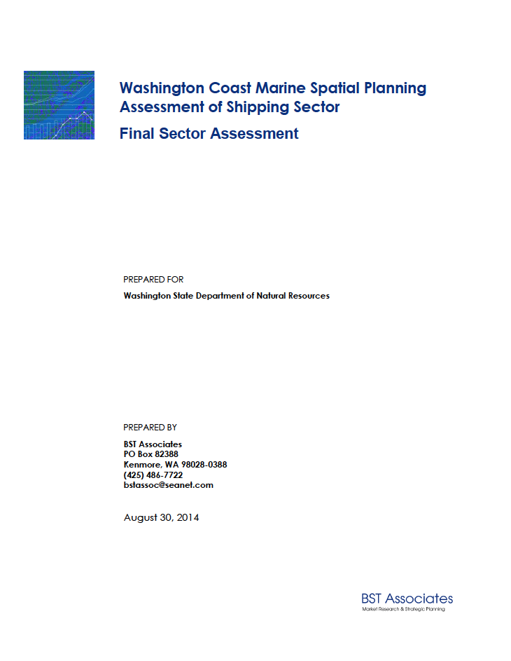 Washington Coast Marine Spatial Planning Assessment of Shipping Sector