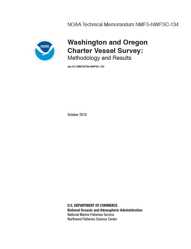 Washington and Oregon Charter Vessel Survey: Methodolgy and Results
