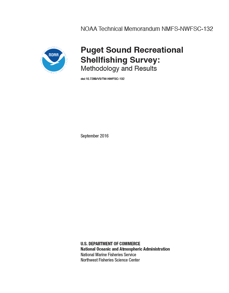 Puget Sound Recreational Shellfishing Survey: Methodology and Results