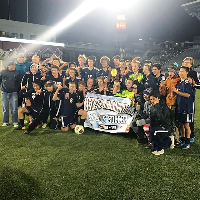 CRESTED BUTTE TITANS BEAT TELLURIDE 1-0 IN OVERTIME!!!!! . . Congratulations boys!!! We are so proud of you!! #gotitans #crestedbutte #2Asoccerchamps #statesoccerchampionship