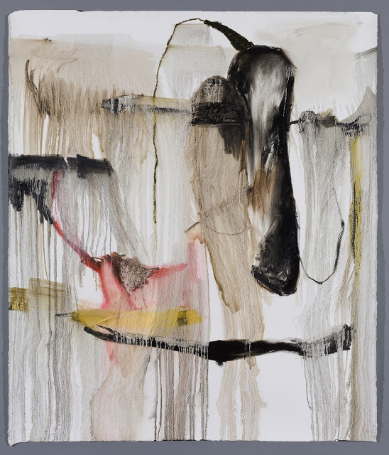 Anastasia Pelias,  Janis , 2016 oil stick and gesso on Arches paper 66.5 x 57.25 in SOLD