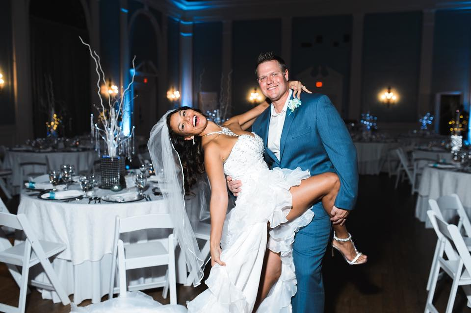 Tatiana, a professional dancer from Brazil, and Bill a white collar Texan used our custom mix to put together an awesome first dance performance (including a costume change!)