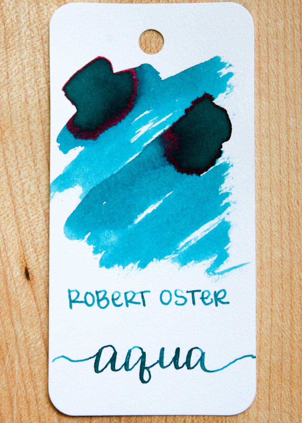 The color... - Aqua is a beautiful blue, with a pink sheen. Seasonally, I would use this ink in the winter.