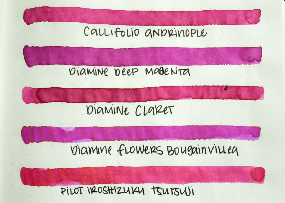Similar inks: - Andrinople is similar to Diamine Claret.