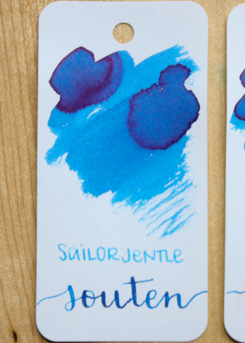 The color... - Souten is a beautiful blue with a pink sheen. Seasonally, I would use this in the spring or summer.