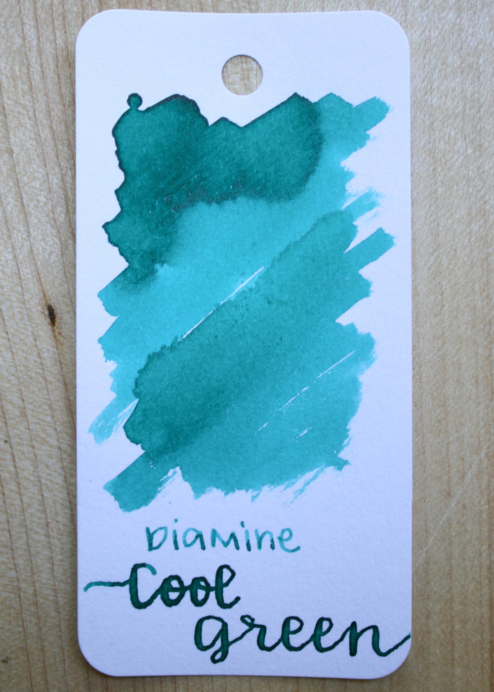 The color... - Cool Green is a bright green with a pink sheen. Seasonally, I would call it a summer ink.