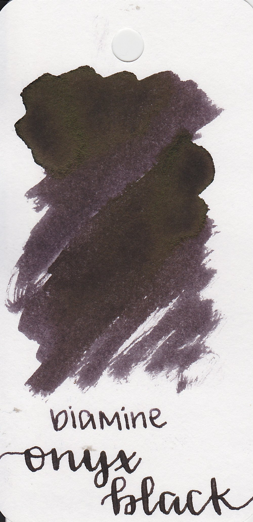 The color... - Onyx Black is a black with a purple undertone, and black sheen.