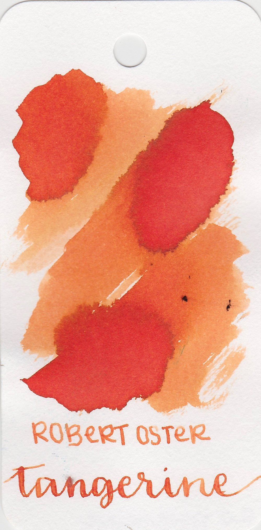 The color... - Tangerine is a red orange, but is a bit muted in saturation. Seasonally, I would use this ink in the spring.