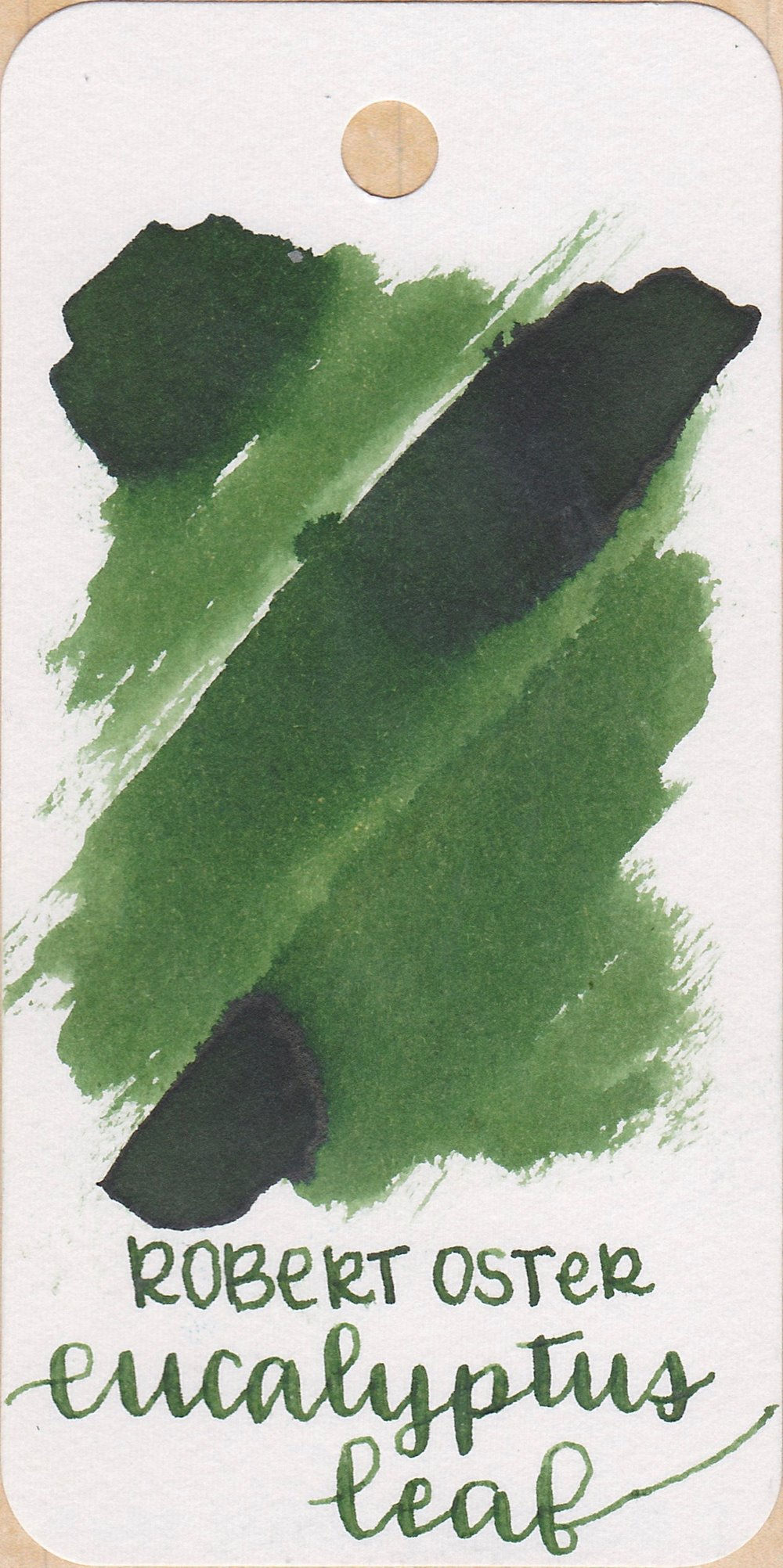 The color... - Eucalyptus Leaf is a medium green. It has a tiny bit of black sheen when really concentrated, and has medium shading. Seasonally, I would use it in the spring.
