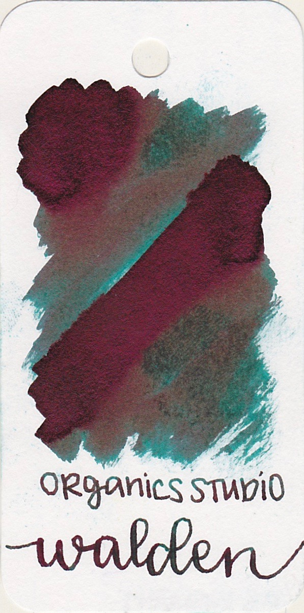 The color... - Walden is a teal with a whole lot of dark pink sheen.