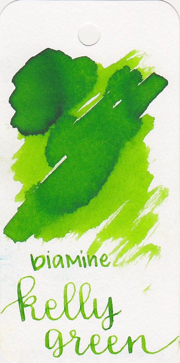 DiamineKelly Green  - Kelly Green is a bright medium green with low shading.