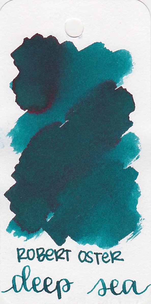 The color... - Deep Sea is a bright teal with pink sheen. Seasonally, I would use this ink in the fall.