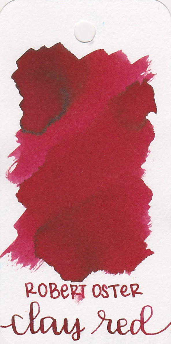The color... - Clay Red is a medium red with a little bit of brown sheen.