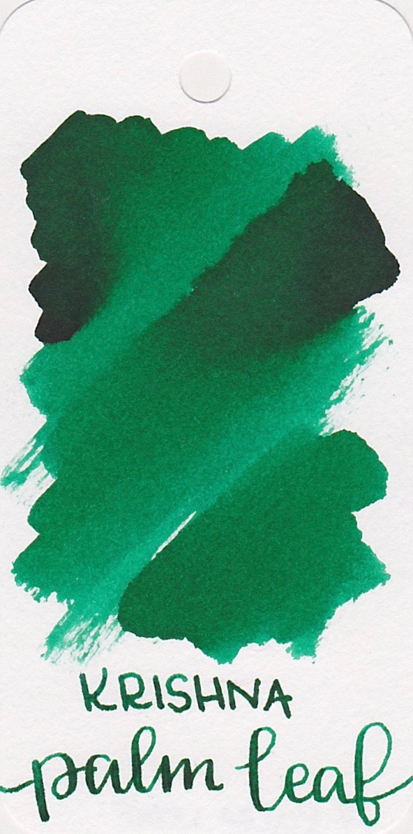 The color... - Palm Leaf is a bright medium green with no sheen.