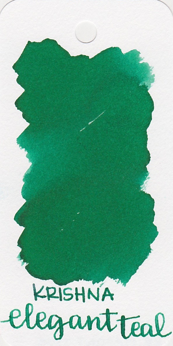 The color... - The ink is called Elegant Teal, but it really doesn't look teal to me. It looks like a medium green.