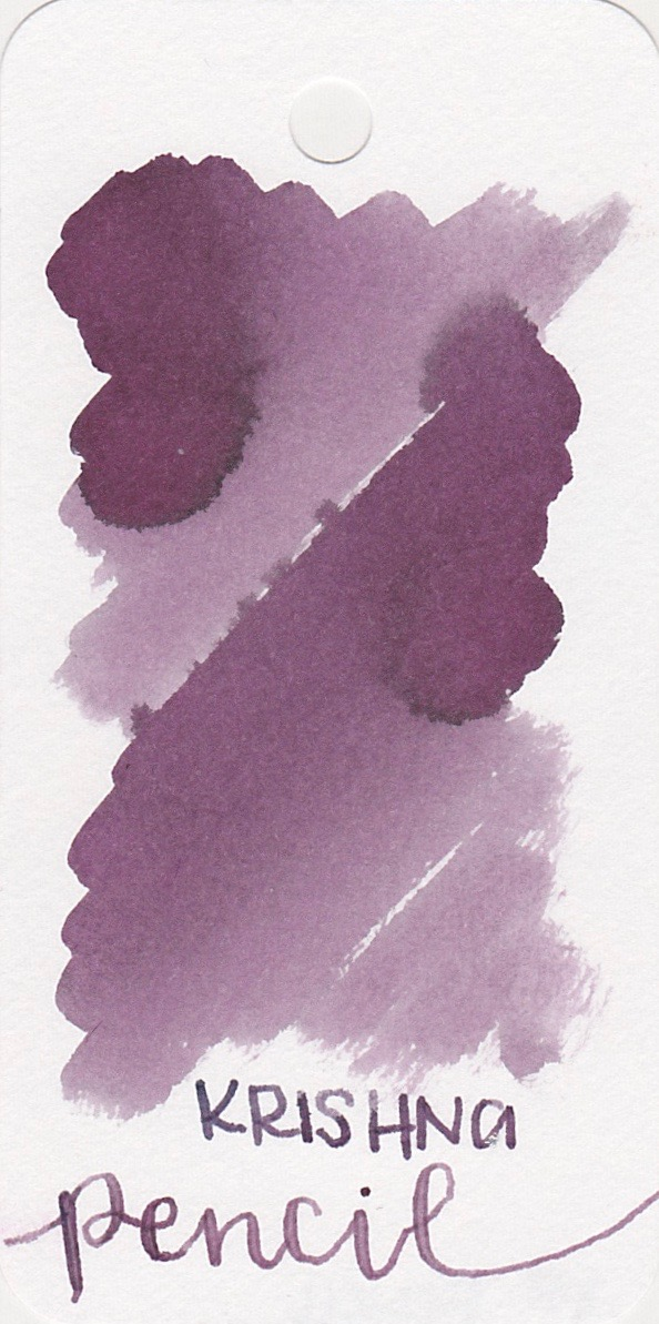 The color... - On The Pen World's website this ink looked a lot more brown than my ink does. My bottle of Pencil looks like a dusky purple.