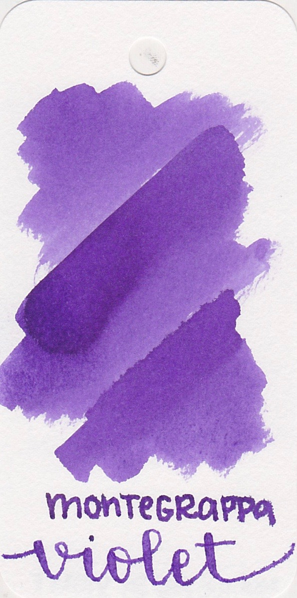 The color... - Violet is a medium purple. I was a little shocked when I made this swab-this ink is the first one I've ever seen to feather on Col-o-ring cards.