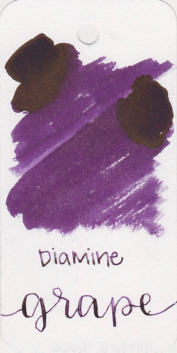 The color... - Grape is a medium purple with some sheen. Seasonally I would use this ink in the fall.