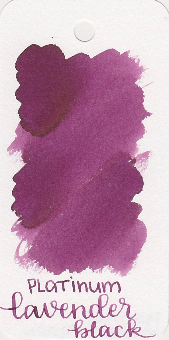 The color: - Lavender Black starts out as a medium pink and dries to a medium purple. Seasonally, I would use this ink in the fall.