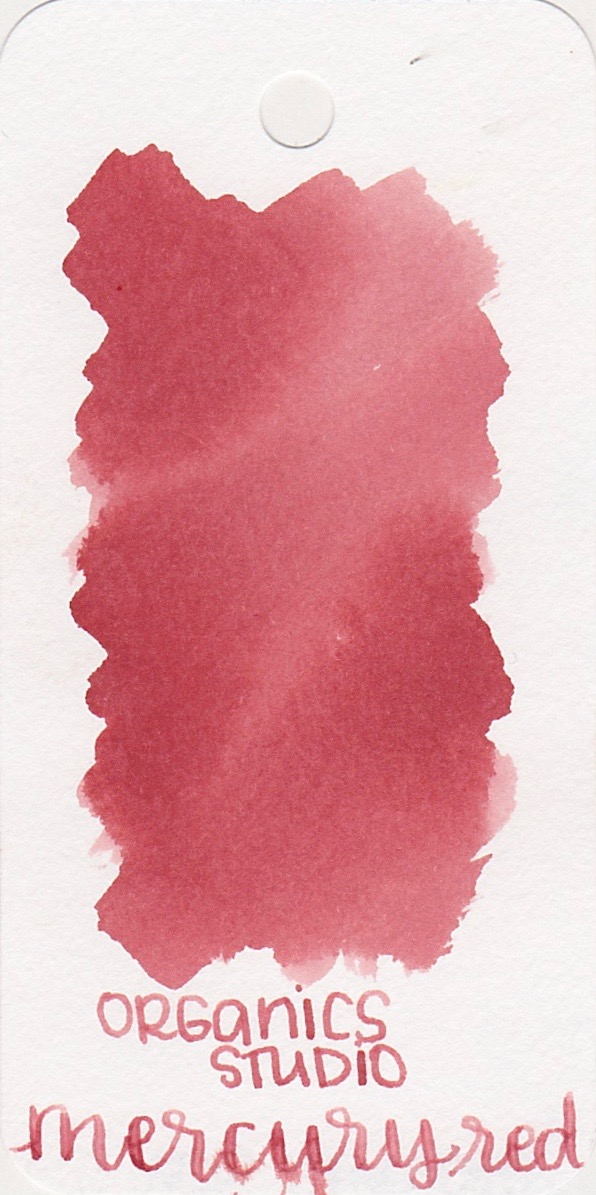 The color... - Mercury Red is a subdued Red. The last few Organics Studio inks I have tried have been really vibrant, so this is a little different.