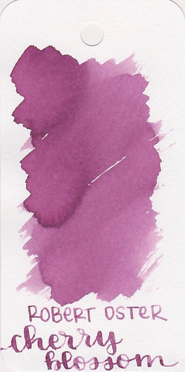 The color... - Cherry Blossom is a dusky pink. It reminds me a lot of Robert Oster Plumb Nut. Seasonally, I would use this ink in the spring.
