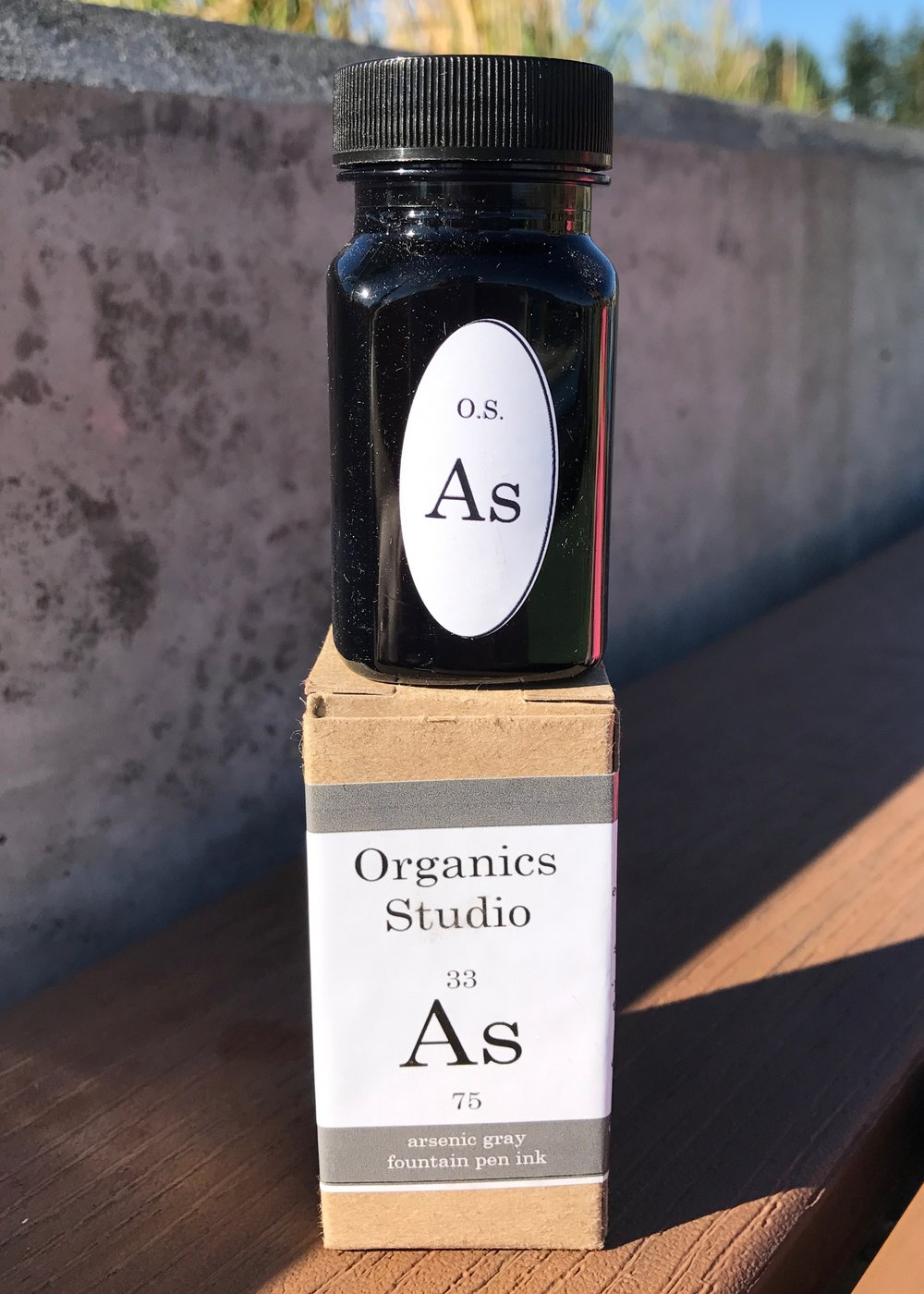 The bottle:  - Arsenic Gray comes in 55 ml bottles, made in Maryland.