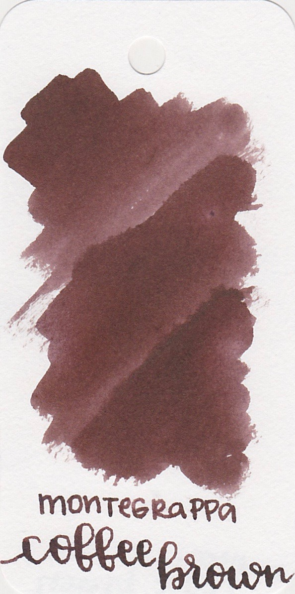 Montegrappa Coffee Brown - This ink is a dark, saturated brown. Why don't more people like brown inks? Brown is awesome.