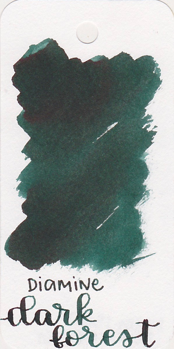 The color... - Dark Forest is a dark green with some sheen.