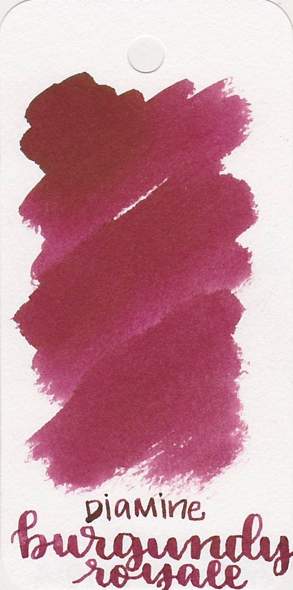 The color... - Burgundy Royale is a nice red with an almost pink tone to it.