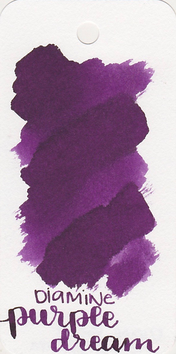 The color... - Purple Dream is a medium purple with some shading and a tiny bit of sheen.