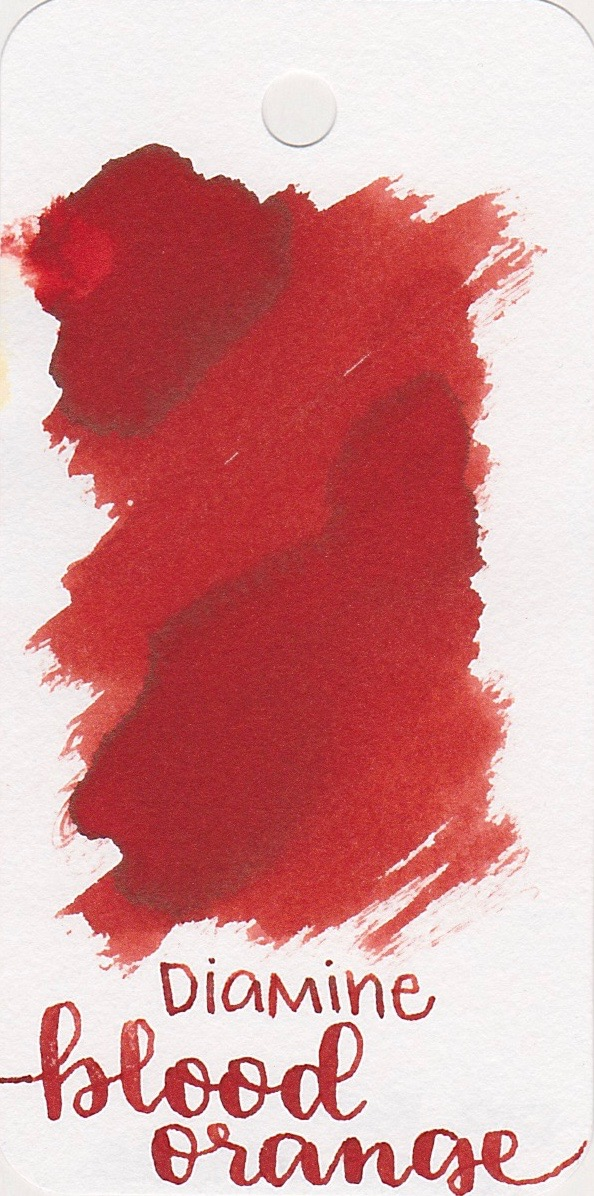 DiamineBlood Orange - Some days I think this ink is more red, and some days I think it's more orange. Either way, it's an interesting color.