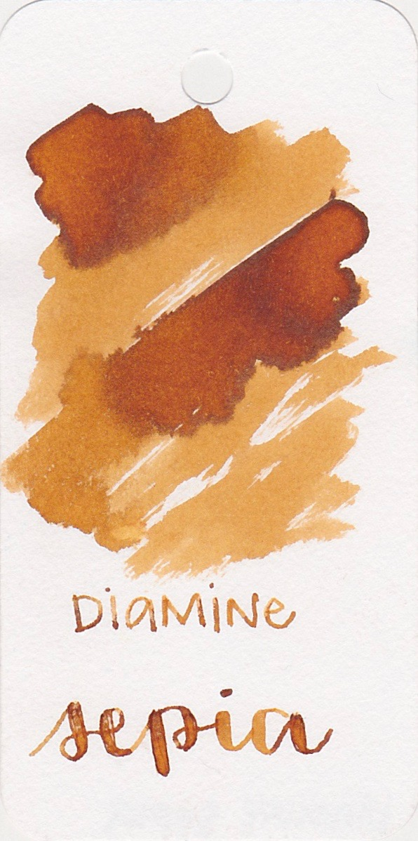 The color: - Sepia is a yellow-brown with shading and a little bit of sheen.