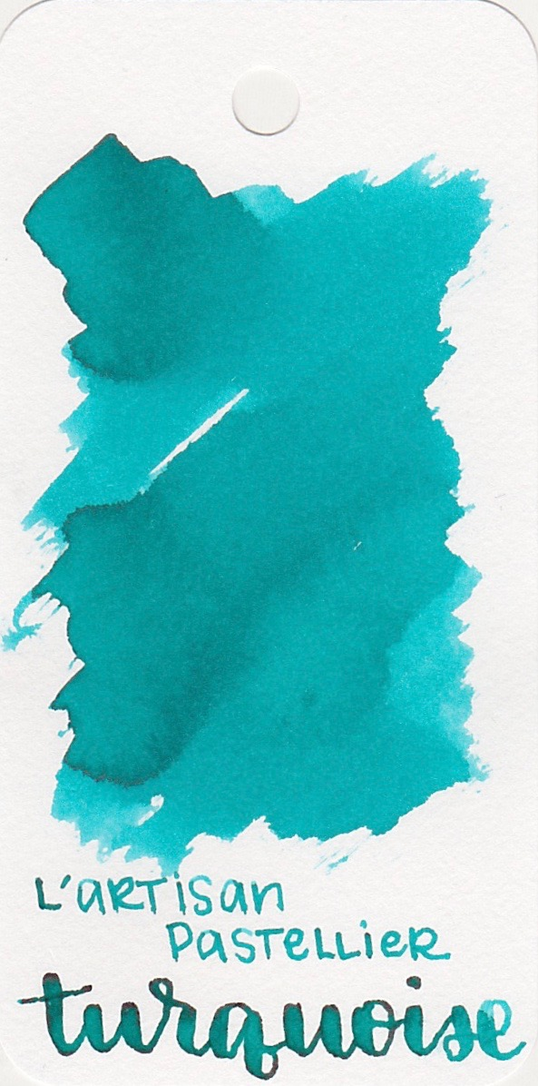 The color... - Turquoise is just that-a bright turquoise. Seasonally I would use this ink in the spring or summer.