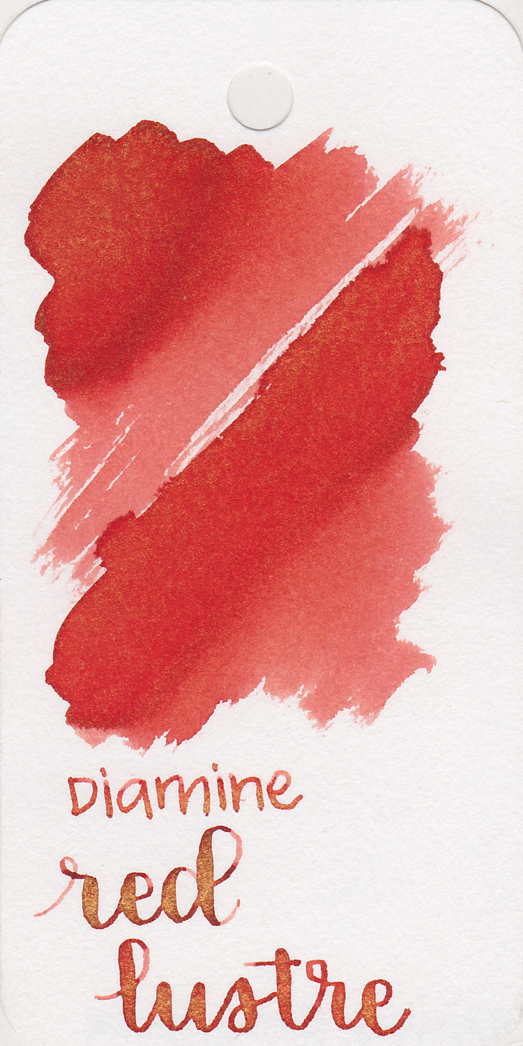 The color... - Red Luster is a medium red with gold shimmer.