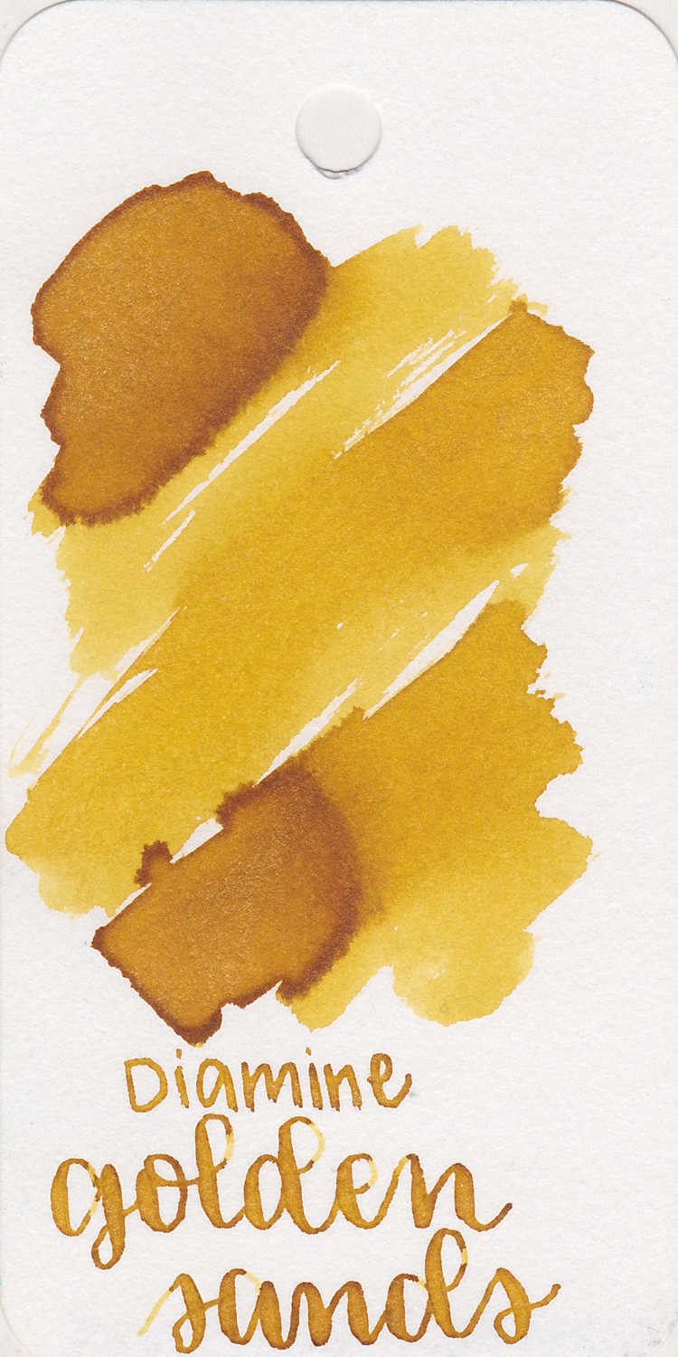 Diamine Golden Sands - Golden Sands is from the original Shimmertastic collection in 2015, but I've just got around to trying it this month. I really like it-it's perfect for Christmastime. If you want a gold without shimmer, Robert Oster Gold Antiqua would be a great choice as well.