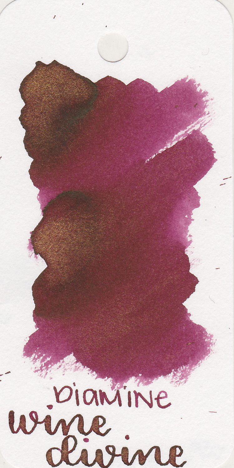 The color: - Wine Divine is pretty much the color of red wine with gold shimmer, so the name is appropriate.