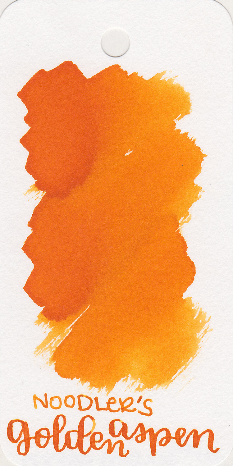 The color: - Golden Aspen is a dark orange with shading.