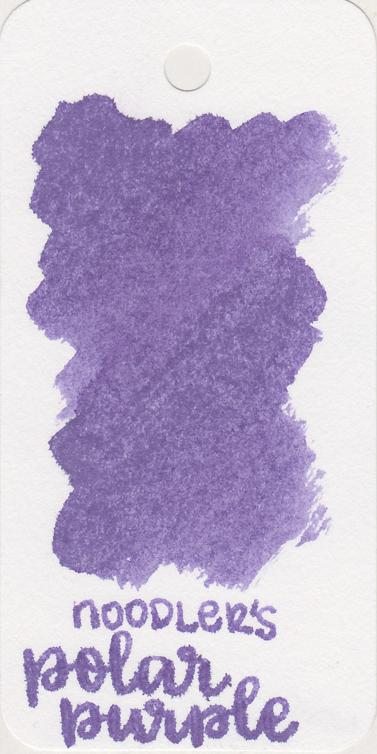 The color: - Polar Purple is a light purple. The ink starts out as a dark purple and gets lighter as it dries.